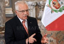Vaclav Klaus anulează o vizită în Ucraina din cauza situaţiei Iuliei Timoşenko