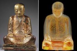 """Ce se afla în INTERIORUL acestei statuete din bronz. """"A trăit acum mai bine de 1000 de ani"""""""