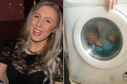 Imagini scandaloase! O femeie şi-a băgat copilul cu sindrom Down în maşina de spălat